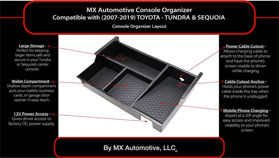 Center Console Organizer for Toyota Tundra / Sequoia