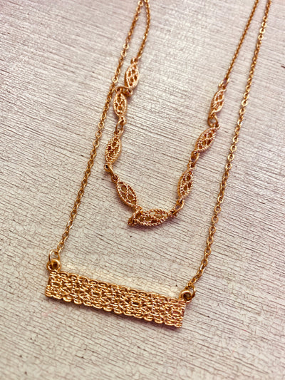 Textured Bar Necklace