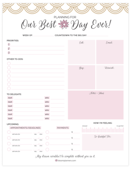 Wedding Planning Pad