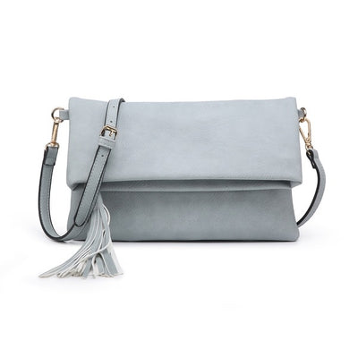 Treasure Me Clutch l Grey Teal