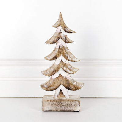 Wood Cutout Christmas Tree Small