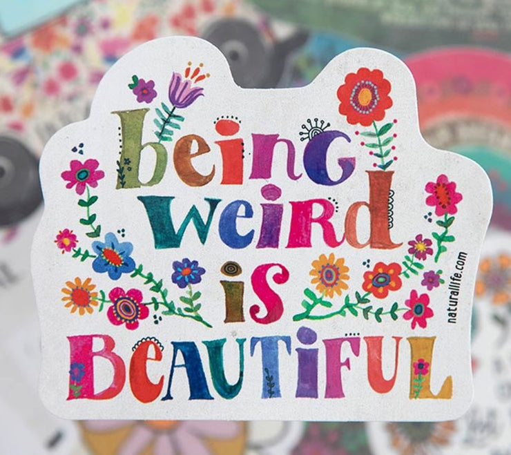Being Weird Is Beautiful Sticker