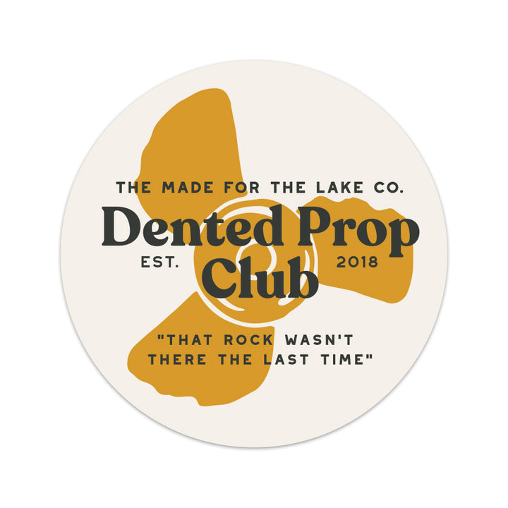 Dented Prop Sticker