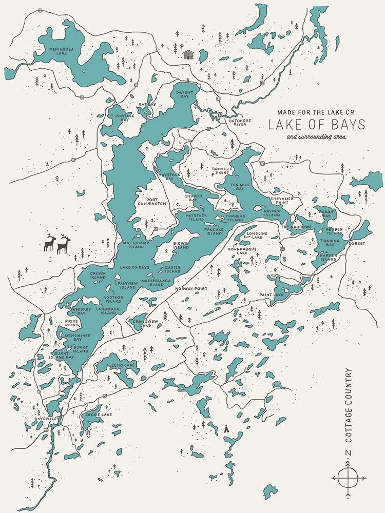 Lake of Bays Map