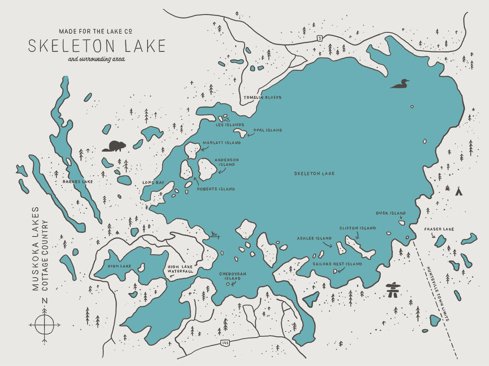 Skeleton Lake Map