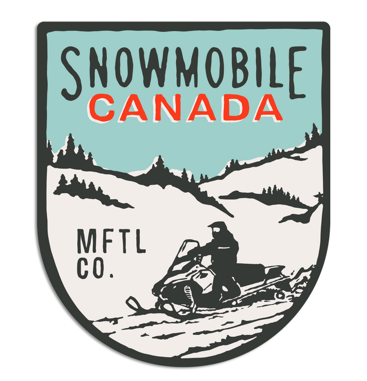 Snowmobile Canada Shield Sticker