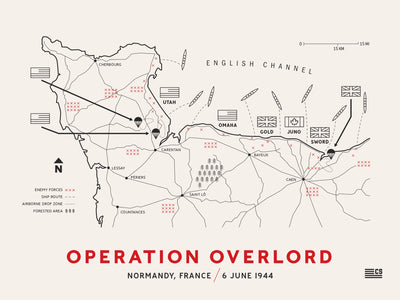 operation overlord battle map poster print