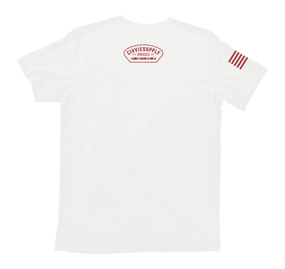airborne us army paratroopers t-shirt - white back