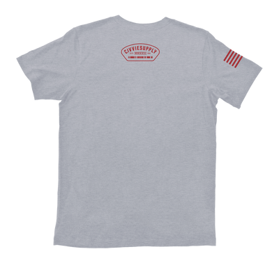 airborne us army paratroopers t-shirt - gray back