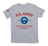 airborne us army paratroopers t-shirt - gray - front