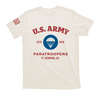 airborne us army paratroopers t-shirt - ivory