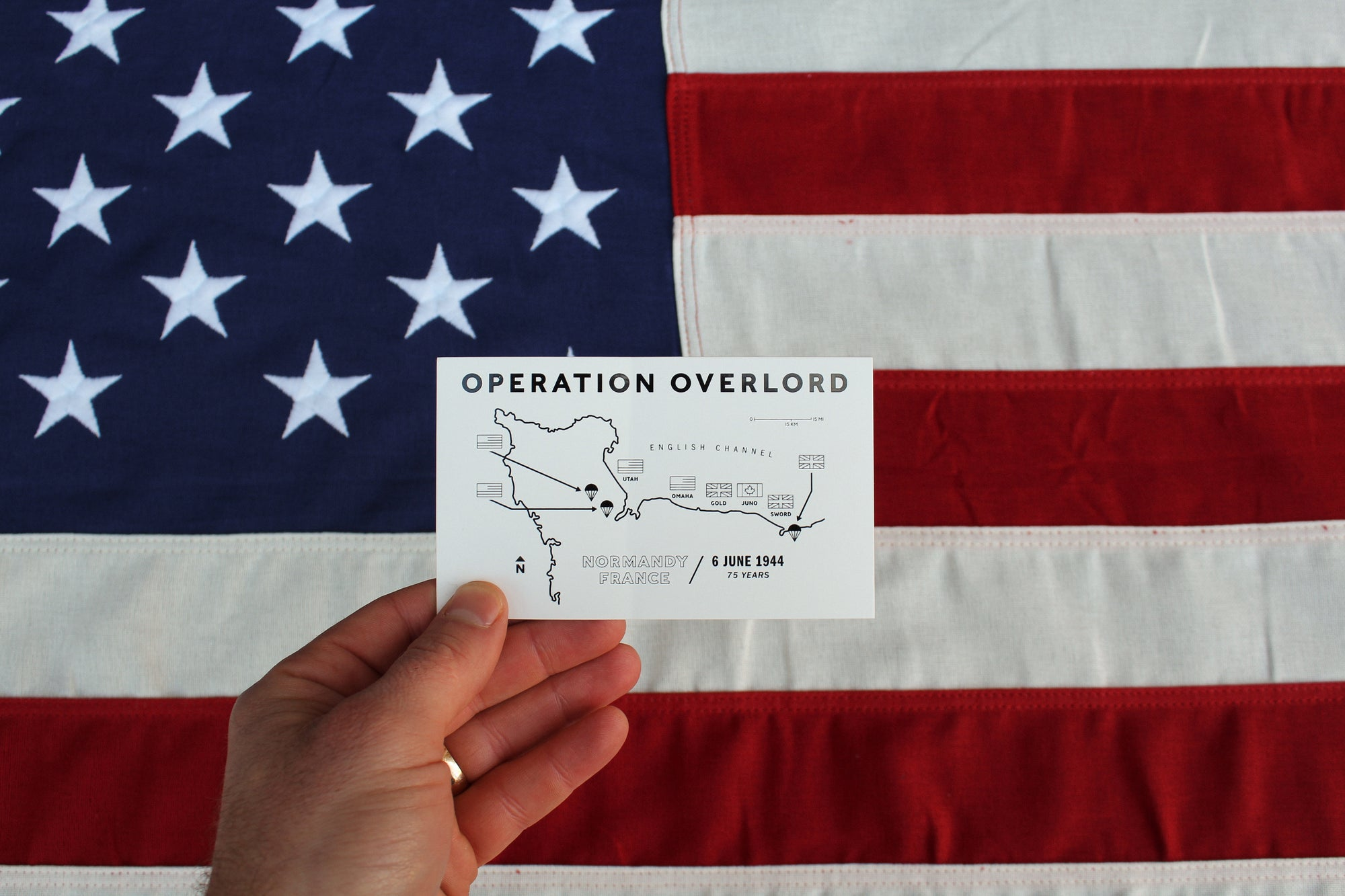 "Operation Overlord Sticker - 3"" x 5"""