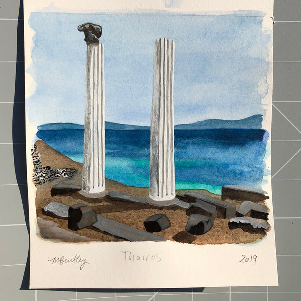 Tharros original watercolour painting - Megan Bentley