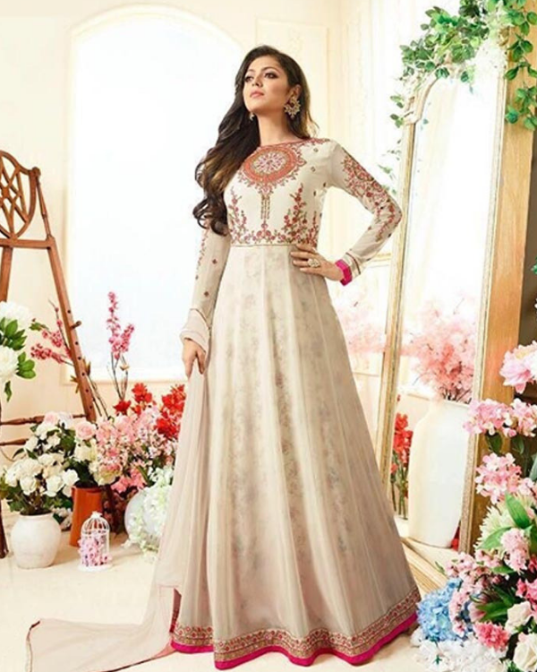 Georgette Embroidery Work Dress
