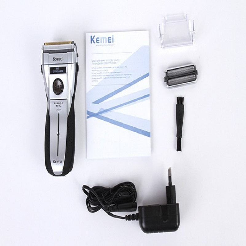 Kemei Waterproof Rechargeable Shaver & Trimmer with Knife