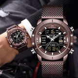 NAVIFORCE Analog Digital Watches Men Luxury Brand Stainless Steel