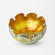 Load image into Gallery viewer, Tiffany Studios Favrile Glass Bowl and Saucer