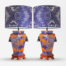 Load image into Gallery viewer, Pair of Chinese Polychrome Lamps