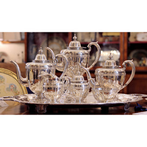 Seven Piece Sterling Silver Tea and Coffee Service - The Antique Guild