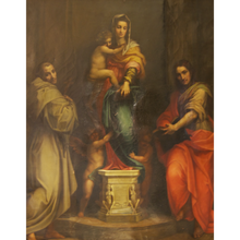 Load image into Gallery viewer, 19th Century Madonna delle Arpie Oil Reproduction - The Antique Guild