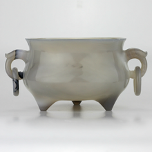 Load image into Gallery viewer, Carved Agate Bowl - The Antique Guild