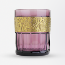 Load image into Gallery viewer, Set of Five Amethyst Glass Tumblers in the Moser Taste