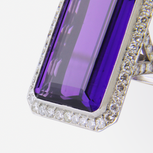 Load image into Gallery viewer, Platinum, Amethyst, and Diamond Ring
