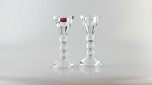 Load image into Gallery viewer, Modern Pair of French Crystal Candlesticks by Baccarat - The Antique Guild