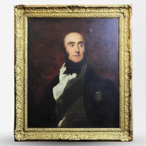 Georgian Oil Painting on Canvas of a Gentleman - The Antique Guild