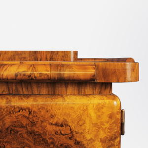 Art Deco Burl Walnut Bar by Jindrich Halabala