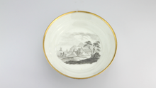Load image into Gallery viewer, Georgian Cup and Saucer with Bat Printed Scenes - The Antique Guild
