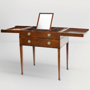 Gentleman's Mahogany Beau Brummell Dressing Table - The Antique Guild