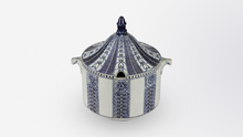 Load image into Gallery viewer, Grey and Cobalt Stoneware Soup Tureen, Germany, Circa 1910