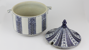 Grey and Cobalt Stoneware Soup Tureen, Germany, Circa 1910