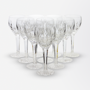 Set of Ten Waterford Wine Glasses in the Lismore Pattern
