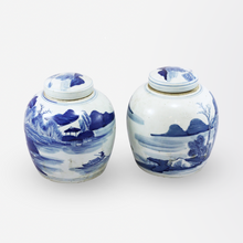 Load image into Gallery viewer, Pair of Chinese Blue and White Ginger Jars