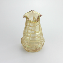 Load image into Gallery viewer, Bohemian Glass Vase with Stringed Overlay by Loetz - The Antique Guild