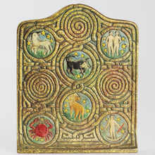Load image into Gallery viewer, Tiffany Studios Zodiac Bookends - The Antique Guild