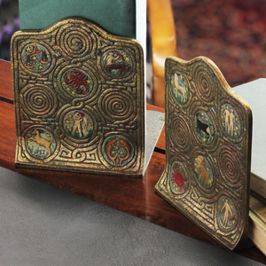 Tiffany Studios Zodiac Bookends - The Antique Guild