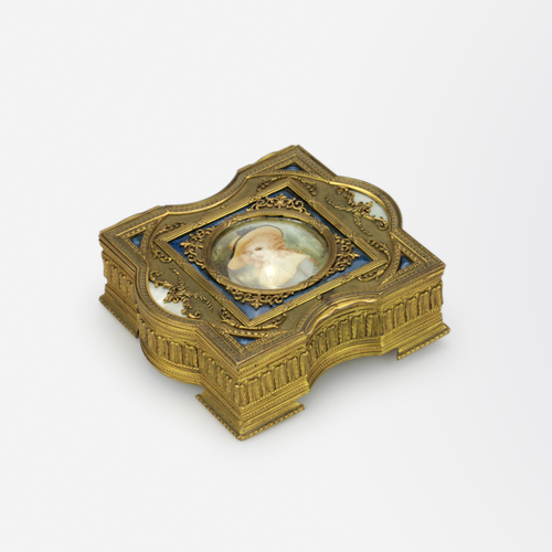 Ormolu Box with Miniature Portrait