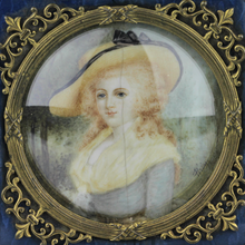 Load image into Gallery viewer, Ormolu Box with Miniature Portrait - The Antique Guild