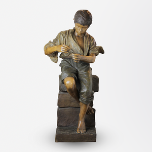 An Austrian Bronze Sculpture of a Boy