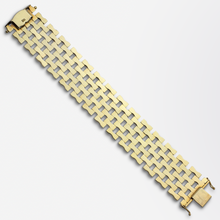 Load image into Gallery viewer, Retro Period, 14kt Yellow Gold, Seven Row Tank Bracelet