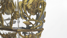 Load image into Gallery viewer, French Glass and Bronze Vase Attributed to Marcel Bing