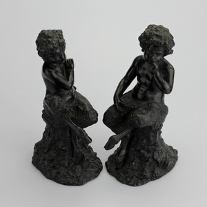 Pair of 19th Century Bronze Satyrs - The Antique Guild