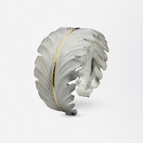 Buccellati Acanthus Cuff Bracelet in 18kt Gold and Sterling Silver