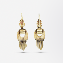 Load image into Gallery viewer, Victorian Gold and Enamel Buckle Earrings