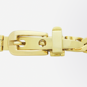 Gucci, 18kt Yellow Gold Belt Buckle Bracelet