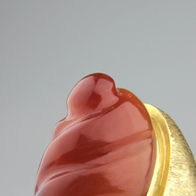 Load image into Gallery viewer, Carnelian and Gold Harold Burle Marx Ring