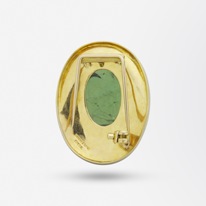 18kt Gold and Tourmaline Brooch Pin by Haroldo Burle Marx